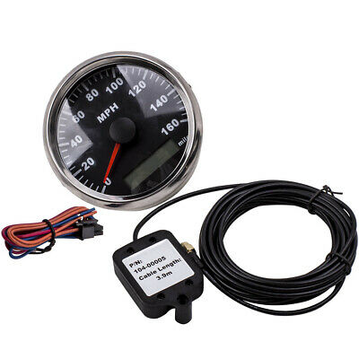 Quaility 85mm Black GPS Speedometer Waterproof 160MPH for Car Truck Motorcycle