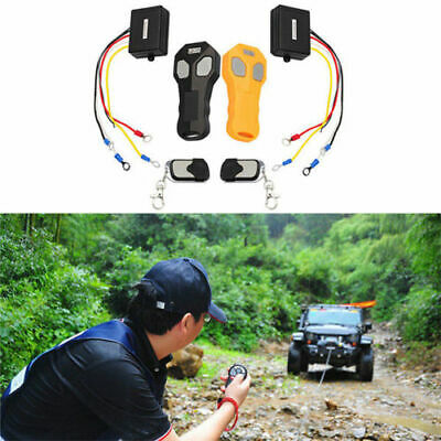 Car Vehicle Winch Wireless Remote Control KeyFob Transmitter Receiver Kit -Black