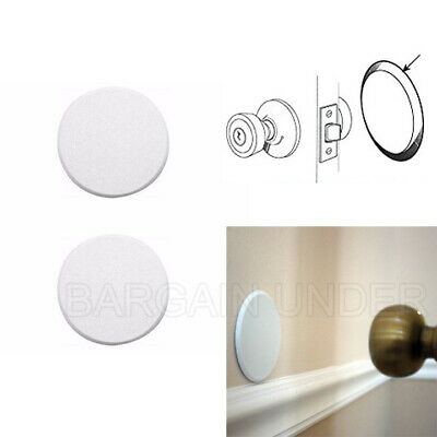 2 Pack Door Knob Self Adhesive Protector 3 Drywall Wall Shield Round White BU02