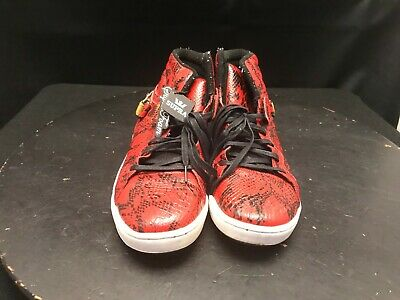 Supra Suprano High Jim Greco Pro Red Snake Skin  Gold Size 13 Skate Shoes 10