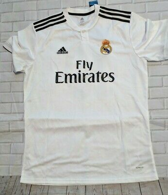 Adidas Mens International Soccer Fly Emirates Jersey - size 2XL - Real Madrid
