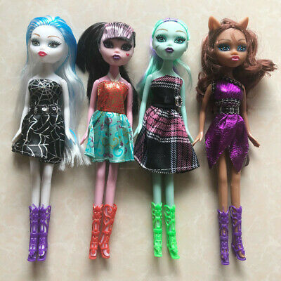 4PcsLot Hot Selling Monster Toys Dolls High Quality Toy For Girls Classic Toys
