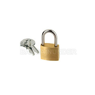1 PC Small Metal Padlock 20mm Mini Brass Lock Jewelry Safe Box W 2 Keys BU-001
