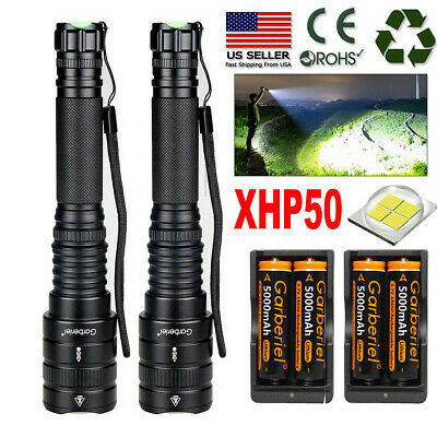 XHP50 900000LM Tactical Zoomable SWAT 18650 LED Flashlight Torch light US Stock