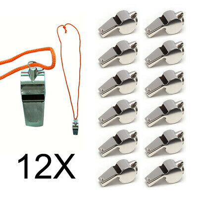 1 To 12 PC Coach Signal Referee Loud Whistle Survival Safety Sports Basketball