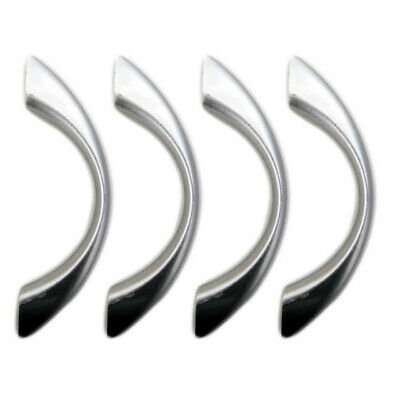 4X PLASTIC Chrome Drawer Pulls Kitchen Cabinet Door Cupboard Silver Handles 5