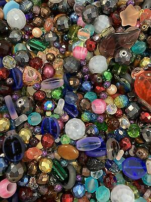 Czech Glass Beads Mix 4-18mm Assorted Colors and Shapes Bulk Lot ModeBeads