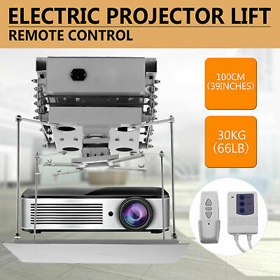 Intbuying39in Projector Bracket Motorized Electric Lift Projector Remote Control