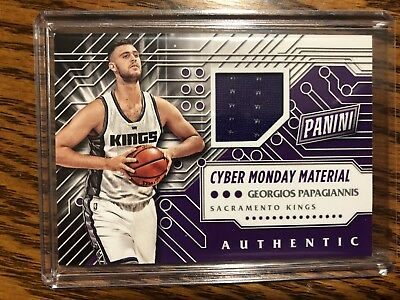 2016 PANINI CYBER MONDAY MATERIAL JERSEY GEORGIOS PAPAGIANNIS ROOKIE RC KINGS