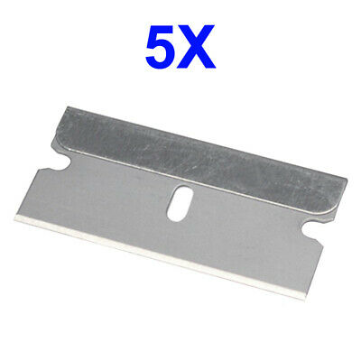 5 PC Razor Blades Single Edge Extra Sharp Heat Treated Safety Knife Shaving BU05