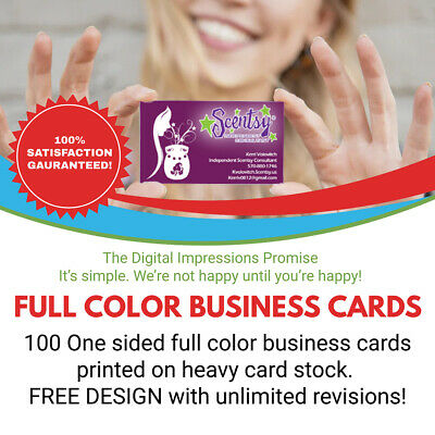 100 FULL COLOR ONE SIDED BUSINESS CARDS WITH FREE DESIGN SERVICE