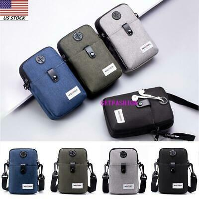 US Mens Outdoor Crossbody Shoulder Cell Phone Bag Travel Messager Phone Pouch
