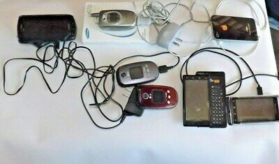 LOT of 7 Older Cell Phones that Work Samsung LG Apple Motorola Androids