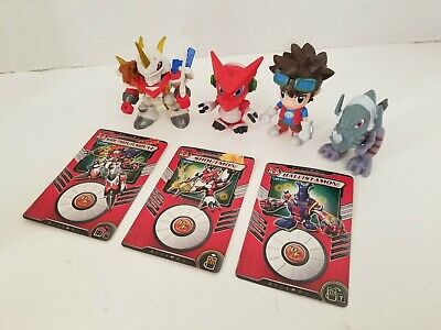 4 Saban Digimon Fusion 2 To 2-5 Action Figures W3 Cards in good shape