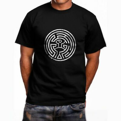 NEW WESTWORLD MAZE SHORT SLEEVE MEN-aposS BLACK T-SHIRT SIZE S TO 3XL USA SIZE