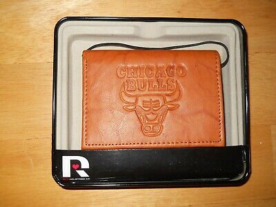 Chicago Bulls NBA Embossed Leather Trifold Wallet -New- Rico Industries