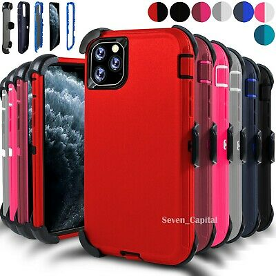 For iPhone 11 11 Pro Max Case Cover w Screen - Belt Clip Fits Otterbox Defender
