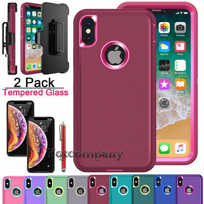 For Apple iPhone XS Max XR 11 Pro Max Case Protective Rugged Shockproof Cover