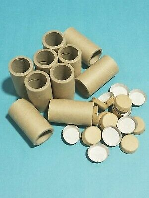 10 FIREWORKS KRAFT PAPER TUBES 1 14 x 3 HEAVY THICK WALL PLUS 20 END CAPS