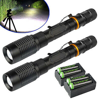 900000Lumens 5Modes 18650 T6 LED Flashlight Powerful Tactical Zoomable Torch USA