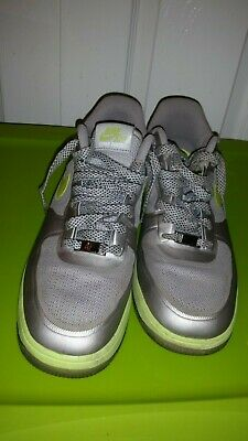 Nike Air Force 1 AF1 Mens Cool Silver Green Running Shoes Size 10