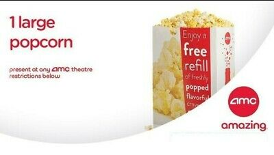 AMC 1 Large Popcorn - Email delivery