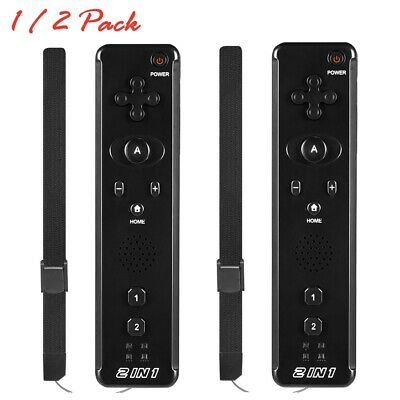 1x 2x Built in Motion Plus Remote Controller- Nunchuck For Nintendo Wii - Wii U