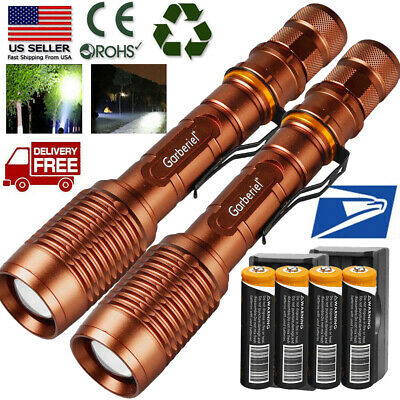 Tactical Zoomable T6 LED Powerful Adjustable Flashlight 18650 powerful Torch
