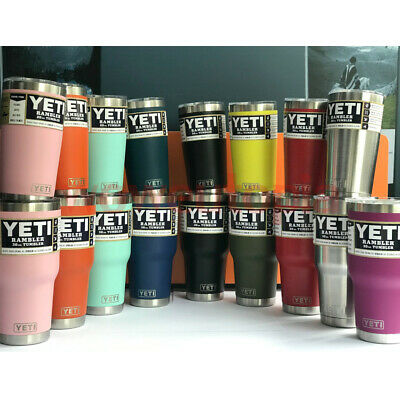 NEW Yeti Rambler 20oz Stainless Steel Cup Insulated Tumbler with Lid All Colors