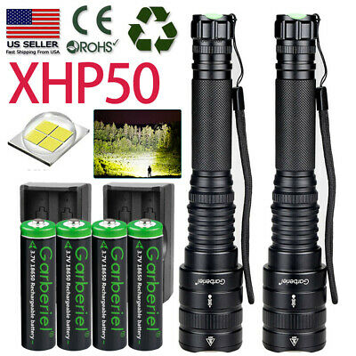 Powerful XHP50 18650 Tactical Police SWAT Zoomable LED Flashlight Torch Light