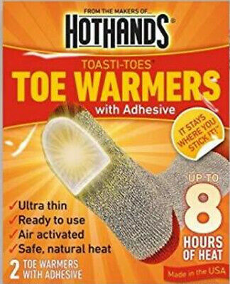 40 Pairs 80 Individual Hothands Toe Warmers With Adhesive