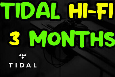 🎧TIDAL Hi-Fi 3 months FAMILYPlan -5 users  GUARANTED  FAST DELIVERY  MUSIC