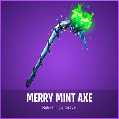 Fortnite Merry Mint Minty Pickaxe Code Instant Delivery Via Email