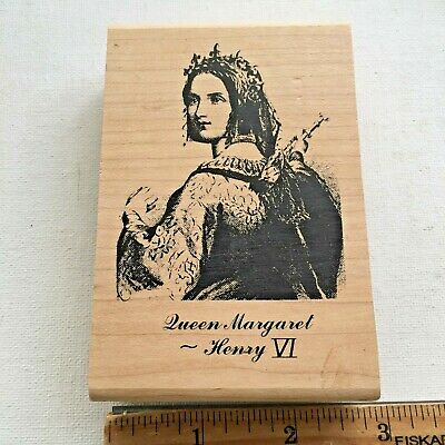 QUEEN MARGARET by STAMPSMITH Rubber Stamp 5616