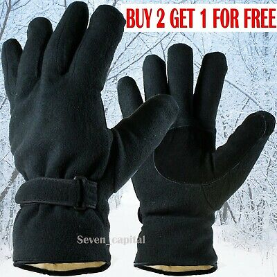 Mens Womens Winter Warm Fleece Thermal Windproof Ski Driving Insulated Gloves