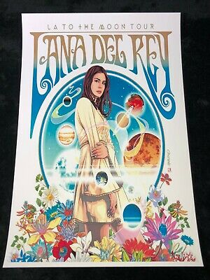LANA DEL REY 12x18 LA TO THE MOON TOUR POSTER LIVE CONCERT NORMAN FKN ROCKWELL