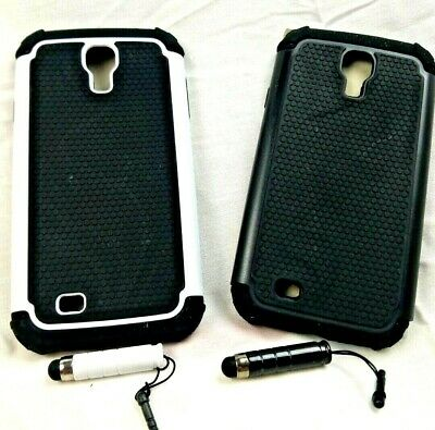 NEW Hybrid Rubber Hard Case for Android Phone Samsung Galaxy S4 Black