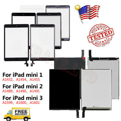 LOT Apple iPad Mini 1 2 3 LCD DisplayTouch Screen Digitizer Glass Replacement
