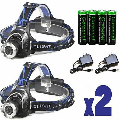 High Lumens T6 LED Zoomable Headlamp Rechargeable 18650 Headlight Head Lamp USA