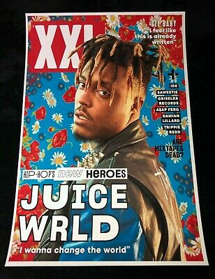 JUICE WRLD 12x18 XXL MAGAZINE COVER POSTER RAPPER DEATH RACE FOR LOVE 999 RAP