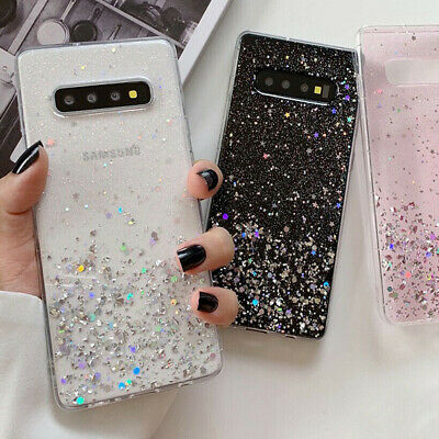 F Samsung Galaxy S20 Note 10 Plus S10- Bling Glitter Clear Cute Phone Case Cover