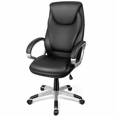 High Back PU Leather Office Chair Executive Task Ergonomic Computer Desk Seat