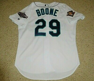 VINTAGE SEATTLE MARINERS BASEBALL JERSEY BOONE ALL STAR GAME RUSSELL ATHLETIC