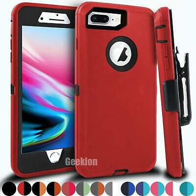 For iPhone 6 6s 7 8 Plus Shockproof Hard Cover Case Belt Clip - Screen Protector