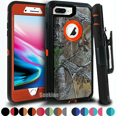 For iPhone 6 6s 7 8 Plus Shockproof Cover Case w Belt Clip - Screen Protector