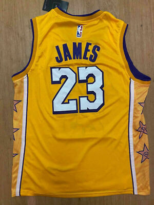 23 LeBron James Los Angeles Lakers Mens Stitched NEW Yellow Jersey