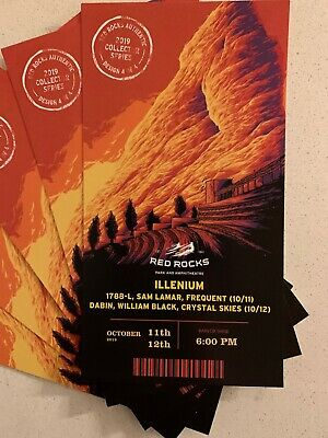 Illenium Red Rocks Authentic 2019 Collector Series 1 ticket available