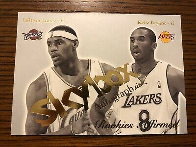 KOBE BRYANT  LEBRON JAMES  2003-2004 Skybox Autographics Rookies Affirmed RC