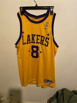X Large Authentic Official NBA Kobe Bryant Nike Jersey 8 Brand New Throwback