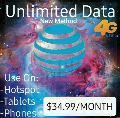 AT-T Unlimited Data IMEI for Hotspot Plan 34-99 NEW METHODWORKING
